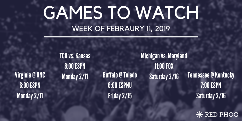 College basketball games to watch